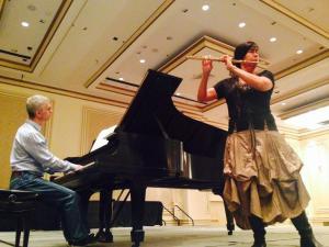 Gary Schocker, piano, Viviana Guzman, flute